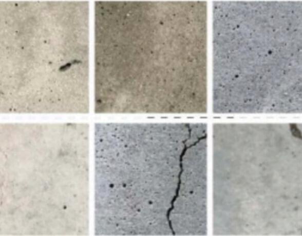 ひび割れたコンクリートの写真